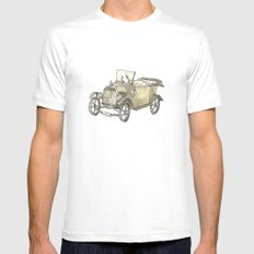 Model T Ford Mens Fitted Tee White MEDIUM