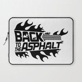 Back to the Asphalt - black Laptop Sleeve