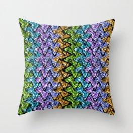 Native Wave Digital Painting Throw Pillow