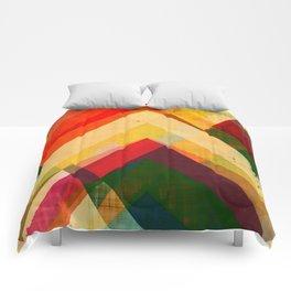 mountain print, abstract art, abstract print, giclee print, giclee art print, violet art, earth colo Comforters