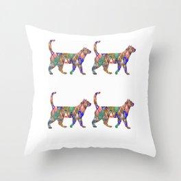 Rainbow Cats Throw Pillow