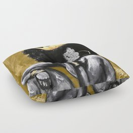Naturally Queen VI GOLD Floor Pillow