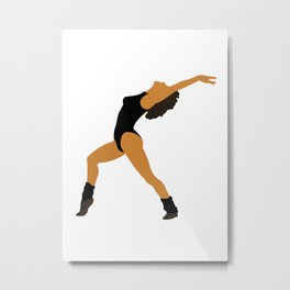 Alex Flashdance 80s movie Metal Print