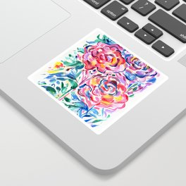 Abstract Roses 1 Sticker