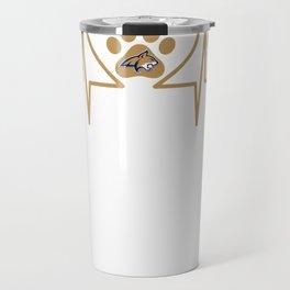 Montana State Bobcats Paw Heartbeat Hoodie - Apparel Travel Mug