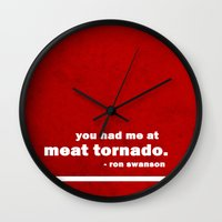 parks Wall Clocks featuring Parks + Rec - Ron Swanson by lissalaine