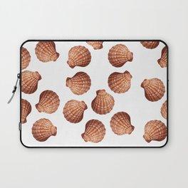 White big Clam pattern Illustration design Laptop Sleeve