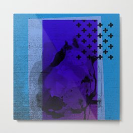 Cool Cross Blue 002 Metal Print