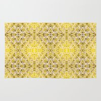 gold foil Area & Throw Rugs featuring Random rope on gold foil by Su G