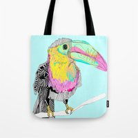 toucan Tote Bags featuring Toucan by caseysplace