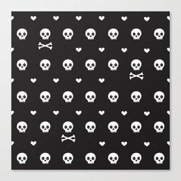 Love Skull Canvas Print