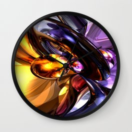 Alluring Grace Abstract Wall Clock