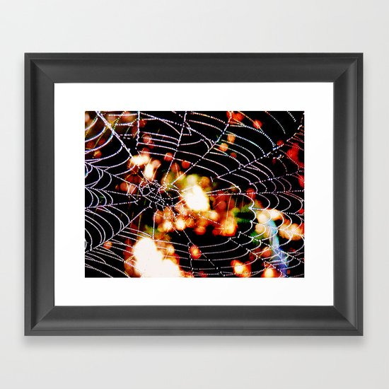 spider love Framed Art Print