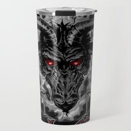 Black Metal Baphomet Pentagram Travel Mug