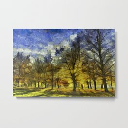 Greenwich Park London Van Gogh Metal Print