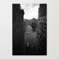 edinburgh Canvas Prints featuring Edinburgh by Jane Lacey Smith