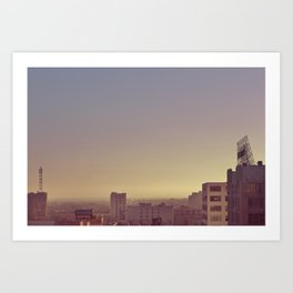 Sunset Across the District - Downtown Los Angeles #7 Art Print