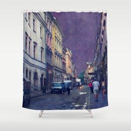 Cracow Slawkowska street #cracow #krakow Shower Curtain