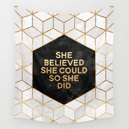 She believed she could so she did 2 Wall Tapestry