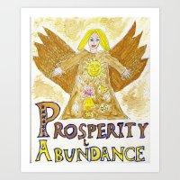 Angel of Abundance & Prosperity  Art Print