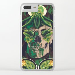 Chilli skull Clear iPhone Case