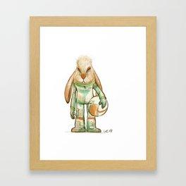 bunny astronaut Framed Art Print