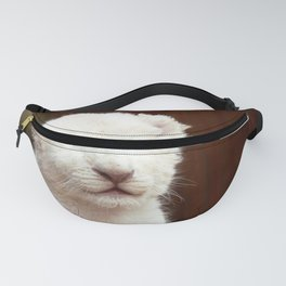 I will hug him and pet him and squeeze him and I will name him George - White Lion Cub Fanny Pack
