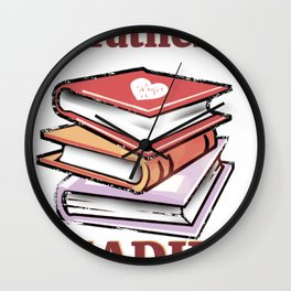I'd Rather Be Reading Book Lover product Wall Clock