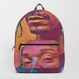 Snoop Dogg Thoughtful Artistic Illustration Acid Acrylic Style Backpack