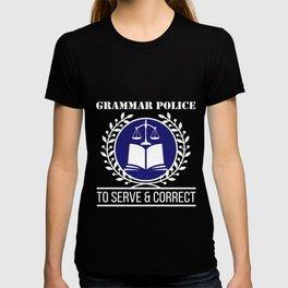 Grammar Police - Funny English Grammar Literary Tee T-shirt