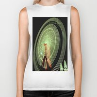 ferris wheel Biker Tanks featuring Ferris Wheel by Benedict Middleton