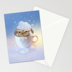 cup of owl Stationery Cards