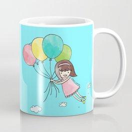 Miss Cupcake Flying with Balloons Coffee Mug