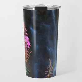 Fairy Falls in Yellowstone National Park Travel Mug