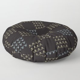 Trendy Abstract Chequered Grid Floor Pillow