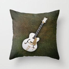 Gretsch  White Falcon 1957 Throw Pillow