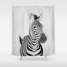 Zebra 2 - Black & White Shower Curtain