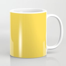 Bright Pastel Yellow Solid Color Pairs To Sherwin Williams Daisy SW 6910 Coffee Mug