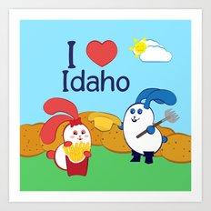 Ernest and Coraline   I love Idaho Art Print