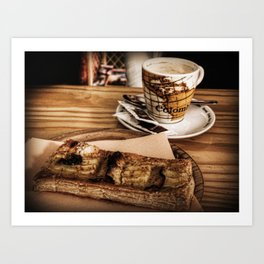 Cafe y tarta Art Print