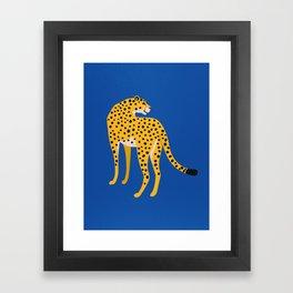 The Stare 2: Golden Cheetah Edition Framed Art Print