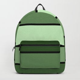 Green Stripes Backpack