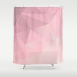 Pink Polygon 2019 Shower Curtain