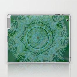 Green Swirl Mandala II Laptop & iPad Skin