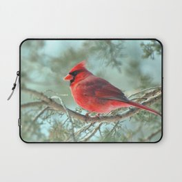 Dreamy Morning (Northern Cardinal) Laptop Sleeve