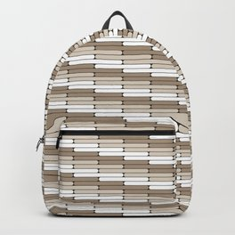 Staggered Oblong Rounded Lines Pattern Pantone Hazelnut Backpack