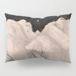 Stars and Heavens in the Heights of the Snow-capped Alpine Mountains by Harald Sohlberg Pillow Sham