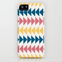 Hand drawn triangles iPhone Case