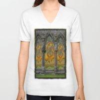 doors V-neck T-shirts featuring Doors by Nicholas Bremner - Autotelic Art