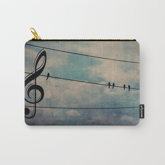 Nature's Choir Birds and Music A611 Carry-All Pouch